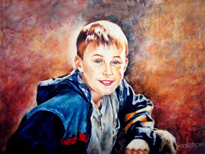 На портреты нарисованные карандашом